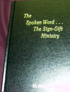 Spoken Word Sign GIft Ministry Book